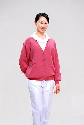 毛衣外套-桃紅色