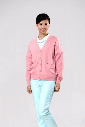 毛衣外套-淺粉紅色